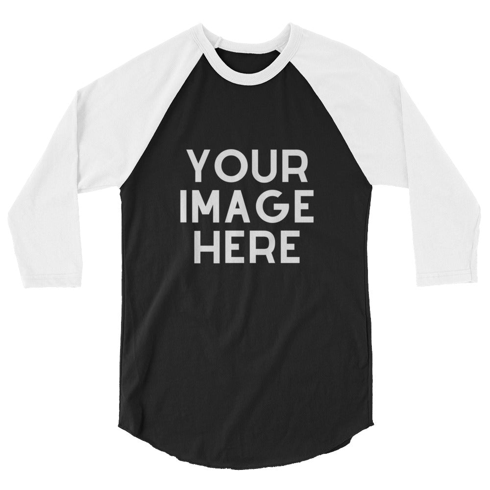 Design Your Own 3/4 Sleeve Raglan Shirt