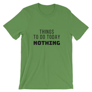 Things To Do Today Nothing Plus-size Unisex T-Shirt