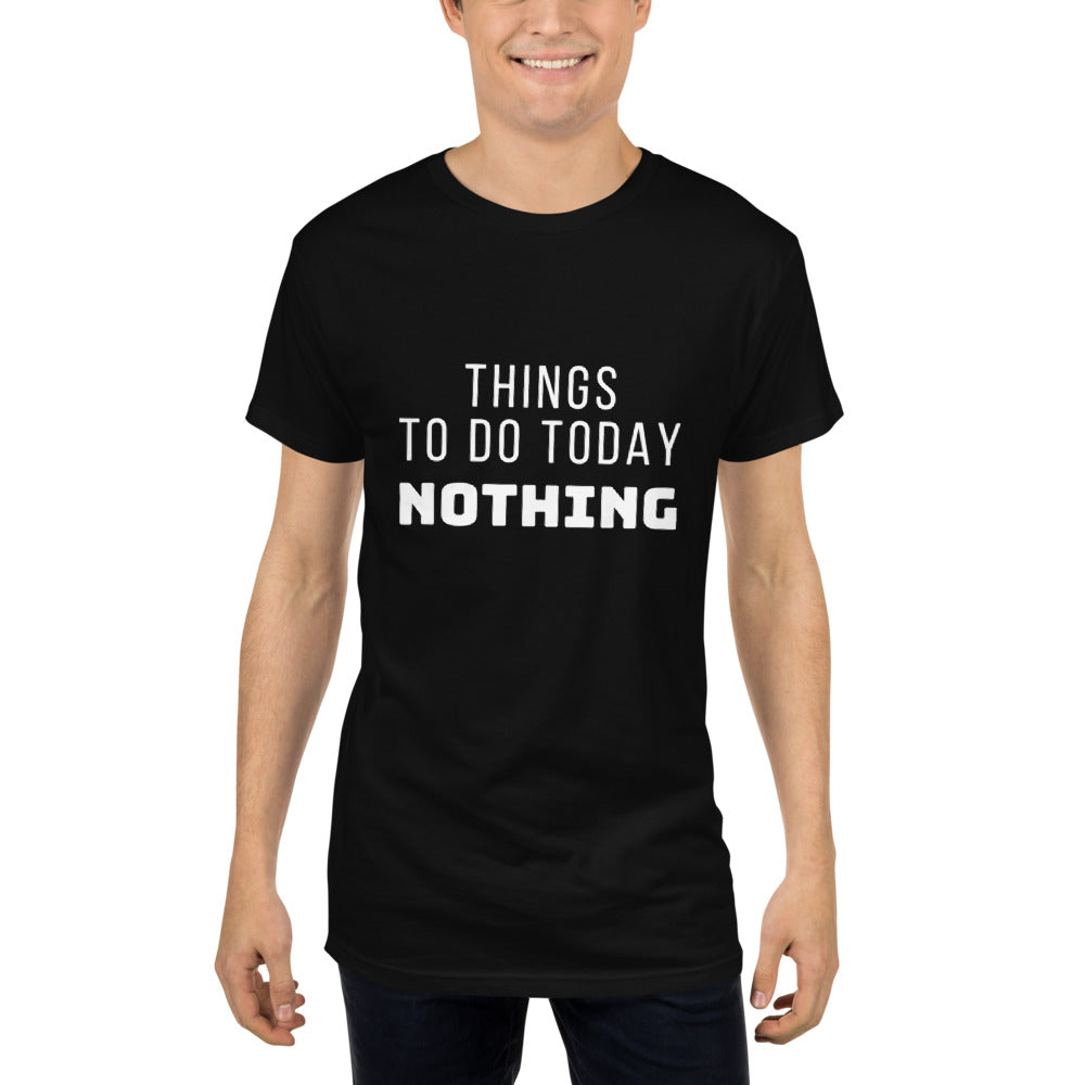 Things To Do Today Nothing Plus-size Long Body Urban Tee