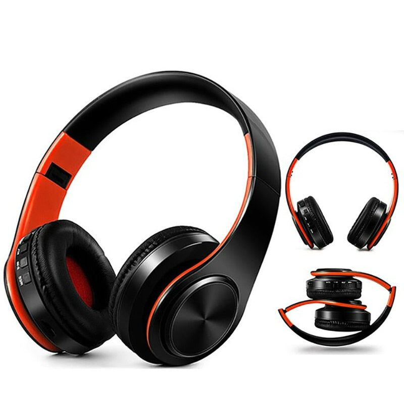 Portable Bluetooth Stereo Foldable Headset Audio Mp3 Adjustable Earphones with Mic for Music