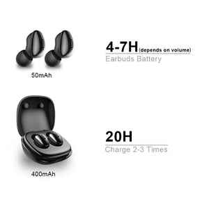 True Wireless Stereo Mini Earbuds sports With Mic Charging box