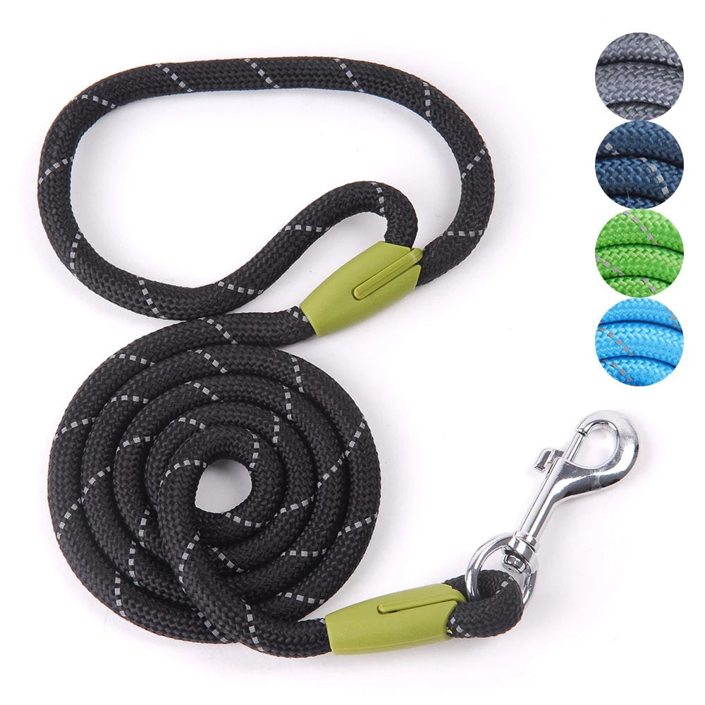 Dog Leash For Small Large Reflective Dog-Collar Harness Nylon Running Leashes