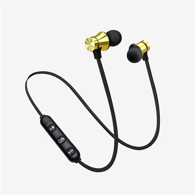 Wireless Headphone Magnetic Headset Neckband Sport Running Bluetooth Earphones