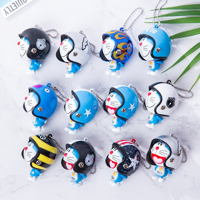 Lovely Animal Pet Keychain Cartoon Hand Foot Movable Colorful Helmet Bell