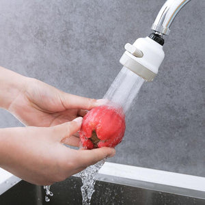 Kitchen Tap Head Universal 360 Degree Rotatable Faucet Water Saving Filter Sprayer Three-Mode