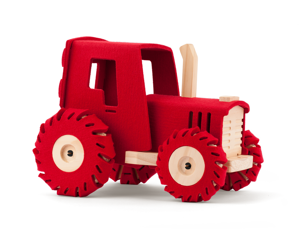 The Big Red Tractor - Natural toy