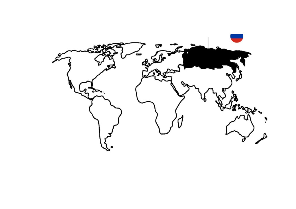 World map - Russia - www.purestone.be