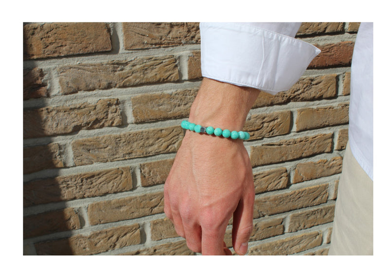 Brazilian Amazonite Bracelet Wrist Man - www.purestone.be