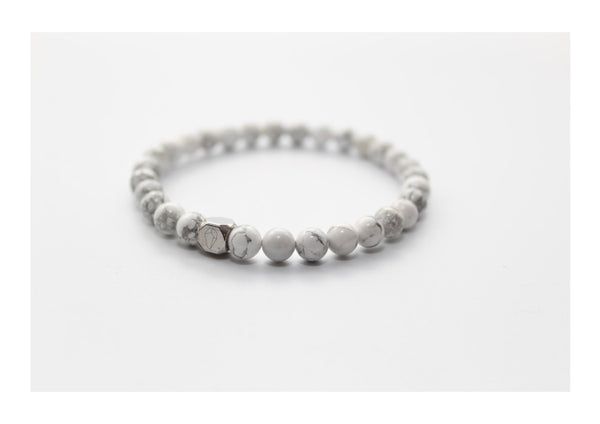 Howlite Bracelet 6mm - www.purestone.be