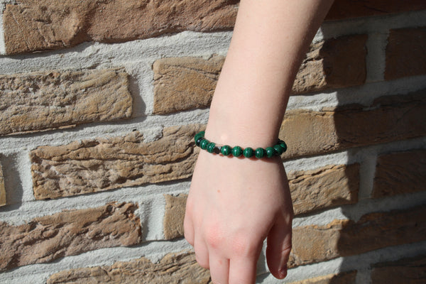 Malachite Bracelet 8mm Wrist Woman- www.purestone.be