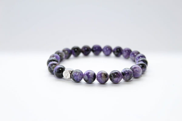 Charoite Dark Bracelet 8mm - www.purestone.be