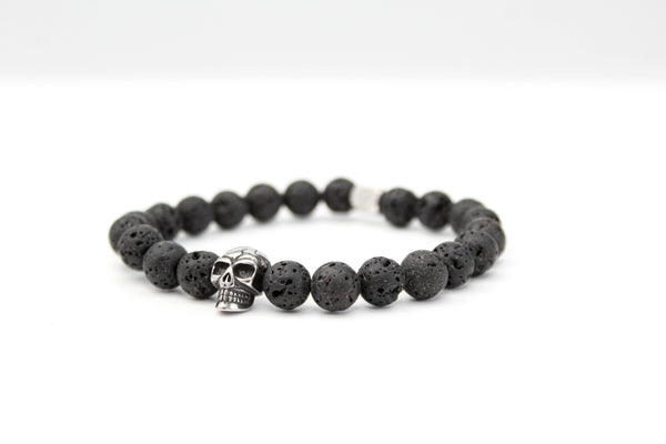 Lavastone Black Skull Bracelet 8mm - www.purestone.be