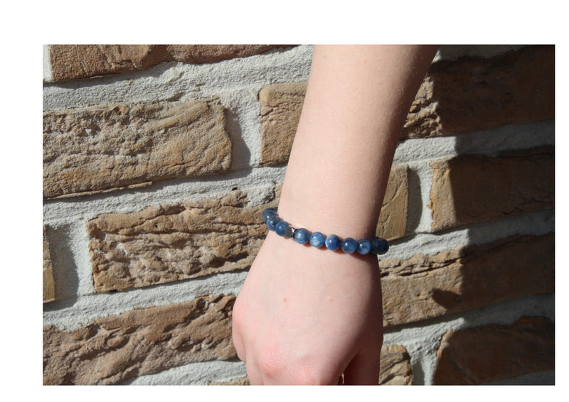 Kyanite Bracelet 8mm Wrist Woman - www.purestone.be