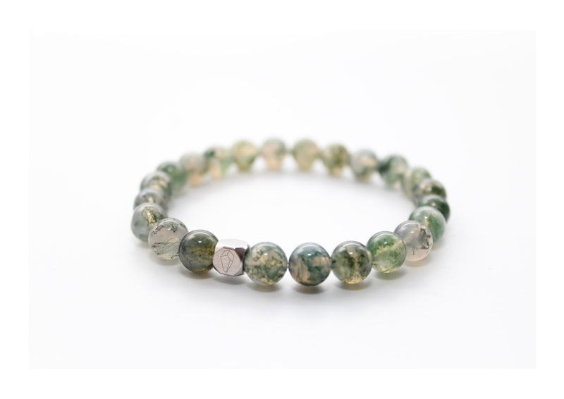 Moss Agate Bracelet 8mm - www.purestone.be