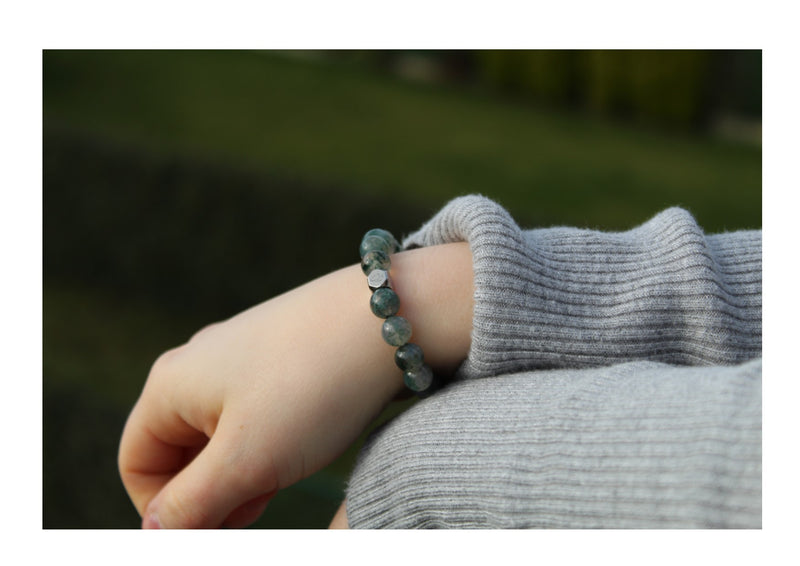 Moss Agate Bracelet 8mm wrist woman- www.purestone.be