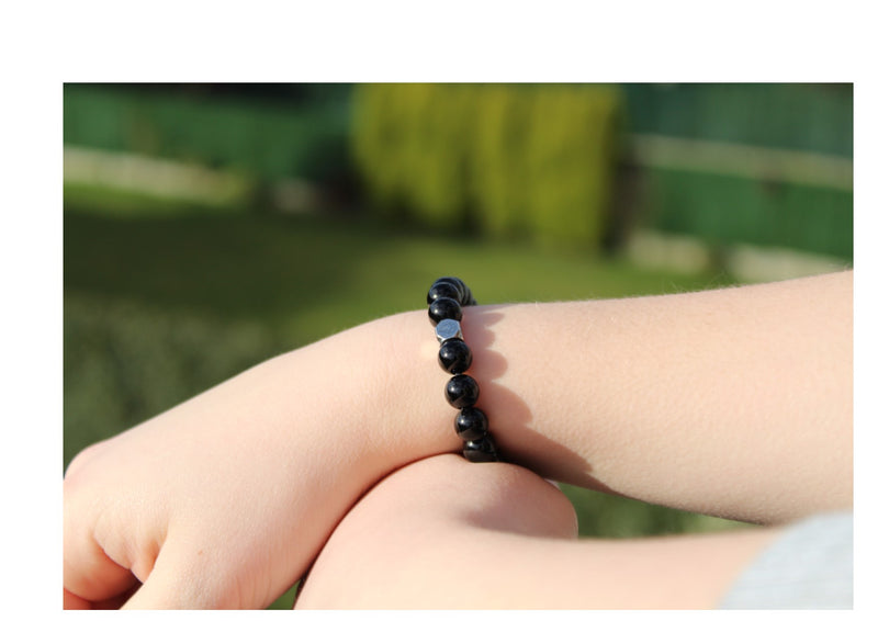 Onyx Bracelet 8mm wrist woman - www.purestone.be