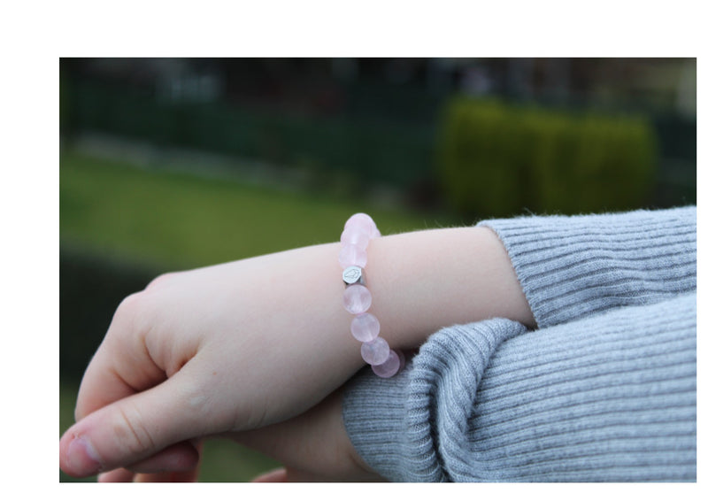 Rose Quartz Bracelet 8mm wrist woman- www.purestone.be