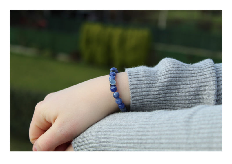 Sodalite Bracelet 6mm wrist woman - www.purestone.be