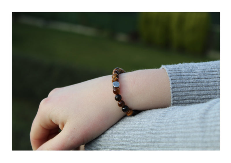 Tiger's Eye Bracelet 6mm wrist woman- www.purestone.be