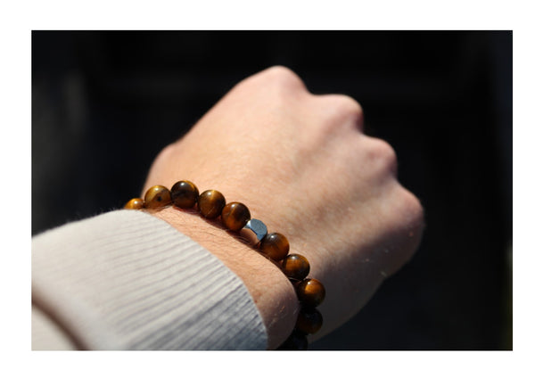 Tiger's Eye Bracelet 8mm wrist man - www.purestone.be