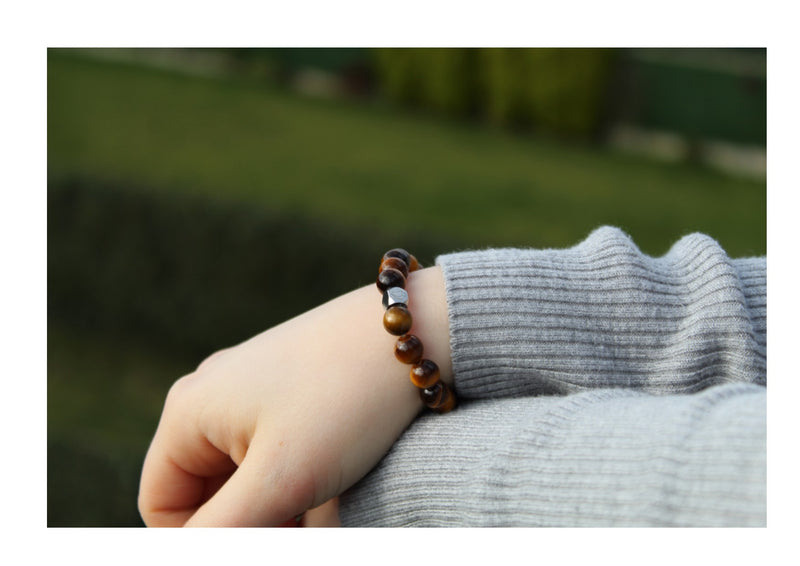 Tiger's Eye Bracelet 8mm wrist woman- www.purestone.be