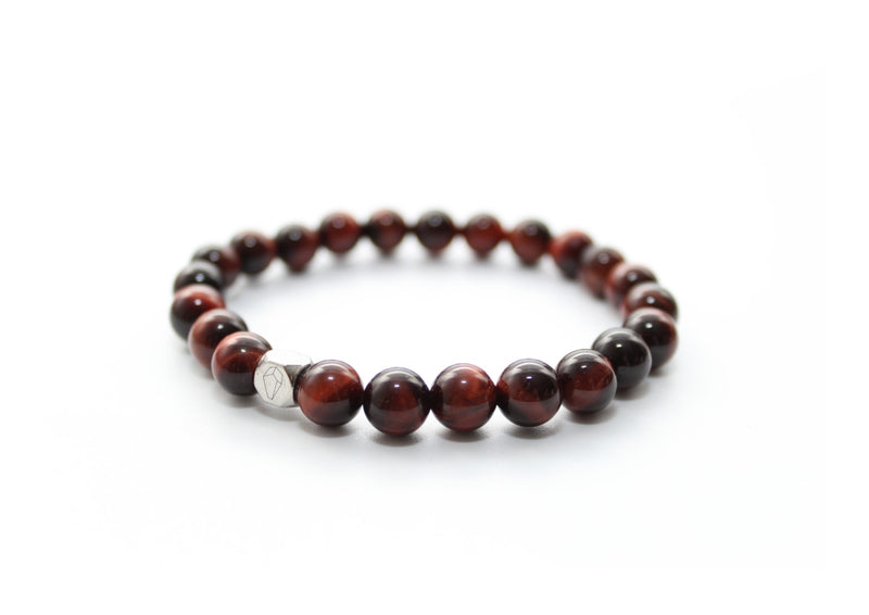 Tiger's Eye Red Bracelet 8mm - www.purestone.be