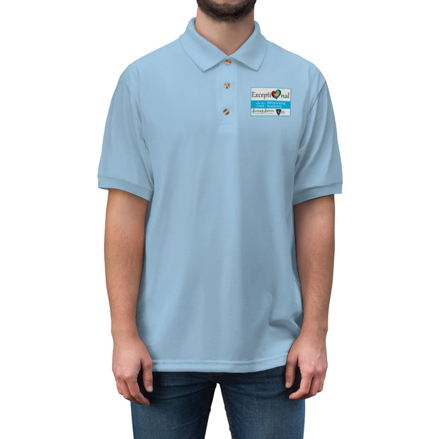Exceptional Academy Embroidered Men's Jersey Polo Shirt