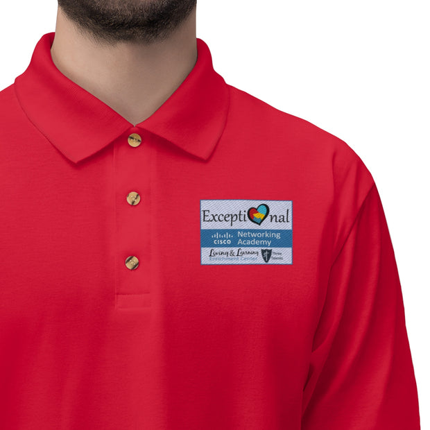 Exceptional Academy Embroidered Men's Jersey Polo Shirt (5.3.7.3)