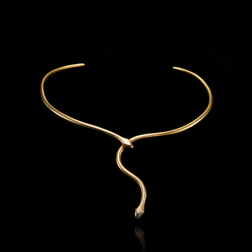 Snake Tie Necklace - Ofis Collection / Ancient Greek Jewelry & Art