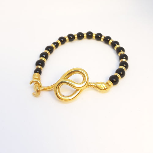 Onyx Snake Bracelet - Ofis Collection / Ancient Greek Jewelry & Art