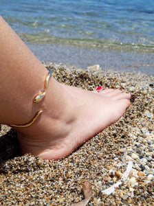 Single Dainty Snake Anklet - Ofis Collection / Ancient Greek Jewelry & Art