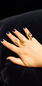 Angel Wings Ring- Gold-plated Brass Symbols Collection