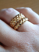 Load image into Gallery viewer, Gold Carved Band - Brass gold-plated Stacking Ring -Symbols Collection