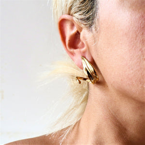 "Olive Leaves Hoop Earrings ""Physis"" Collection"