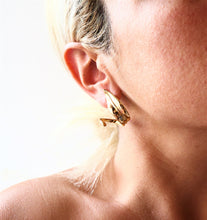 "Load image into Gallery viewer, Olive Leaves Hoop Earrings ""Physis"" Collection"