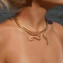 Load image into Gallery viewer, Twin Snakes Necklace - Ofis Collection