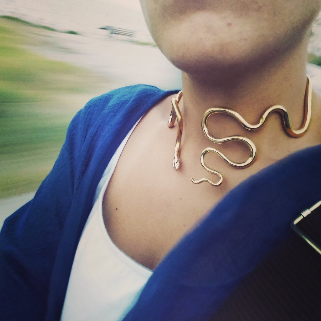 Grandiose Snake Necklace - Ofis Collection / Ancient Greek inspired Art
