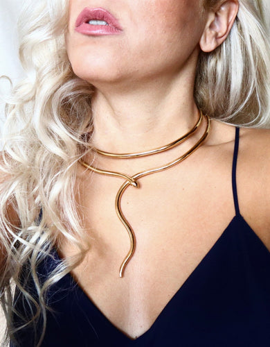 Double Coiled Snake Necklace