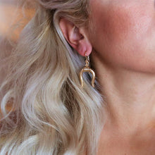 Load image into Gallery viewer, Minotaur Horns Earrings