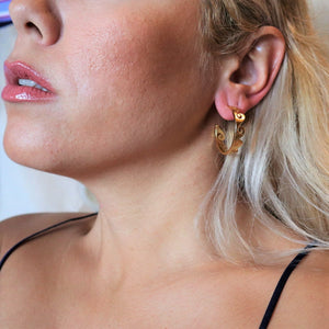 Waves Hoop Earrings