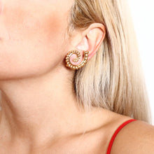 Load image into Gallery viewer, Nautilus Ammonite Clip-on Earrings - Symbols Collection