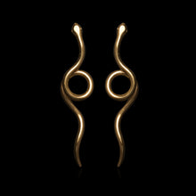 Load image into Gallery viewer, Twisted Loose Snake Earrings - Ofis Collection / Ancient Greek Jewelry & Art