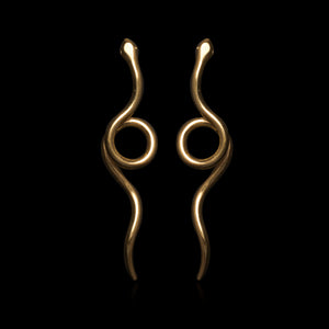 Twisted Loose Snake Earrings - Ofis Collection / Ancient Greek Jewelry & Art