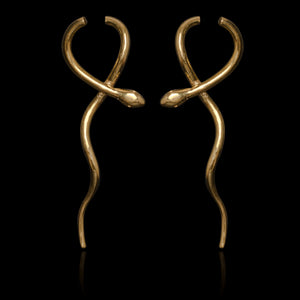 Statement Hanging Snake Earrings - Ofis Collection / Ancient Greek Jewelry & Art