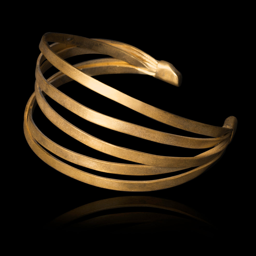 Multi-strands Bracelet - Physis Collection brass gold-plated