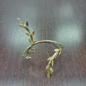 Gold Leaf Cuff Bracelet gold-plated 18K Brass