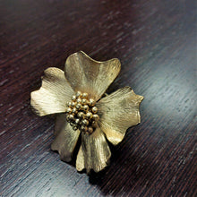 Load image into Gallery viewer, Flower Ring Gold plated 18K Brass metal Big/small Flower Rings
