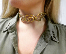 Load image into Gallery viewer, Kyma Collar '' Aegean '' Collection Gold-plated 18K brass necklace