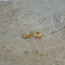 Load image into Gallery viewer, Ancient Greek Snail Stud Earrings / Gold-plated Stud Earrings / Ancient Greek Post Earrings Symbols Collection