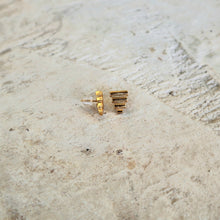 Load image into Gallery viewer, Ancient Greek Stud Earrings / Gold-plated Pyramids Stud Earrings / Ancient Greek Post Earrings / Trending Dainty Earrings Symbols Collection